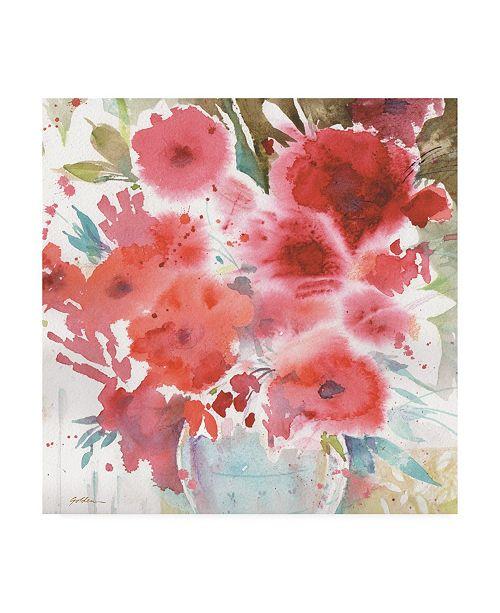 "Trademark Global Sheila Golden Symphony of Red 2 Canvas Art - 36.5"" x 48"""