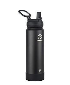Actives 24 oz Insulated Stainless Steel Water Bottle with Straw Lid