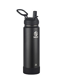 Takeya Actives 24 oz Insulated Stainless Steel Water Bottle with Straw Lid