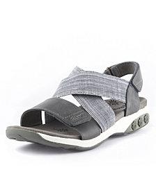 Therafit Shoe Jessica Leather Adjustable Cross Strap Sandal