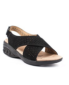 Shoe Olivia Adjustable Cross Strap Sandal
