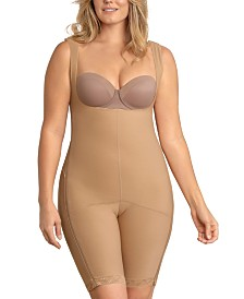 Leonisa Power Body Shaper with Thighs Slimmer and Side Zippers