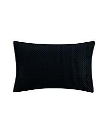 Havana Black Embroidered Decorative Pillow