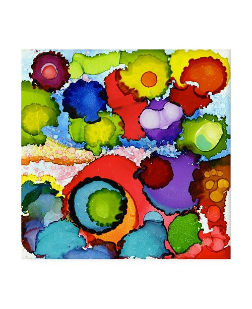 """Trademark Global Pat Saunders-White Glorious Color Canvas Art - 36.5"""" x 48"""""""