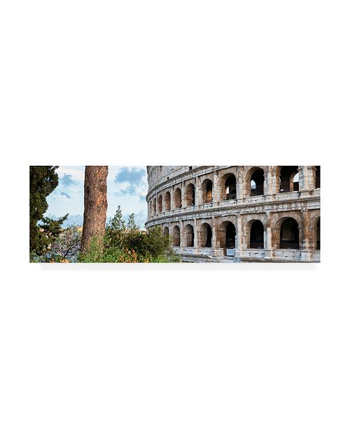 "Trademark Global Philippe Hugonnard Dolce Vita Rome 2 the Colosseum XIII Canvas Art - 15.5"" x 21"""