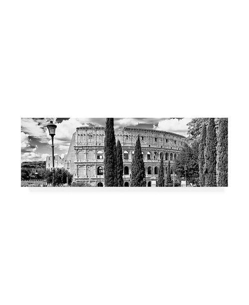 "Trademark Global Philippe Hugonnard Dolce Vita Rome 2 Rome Colosseum III Canvas Art - 27"" x 33.5"""