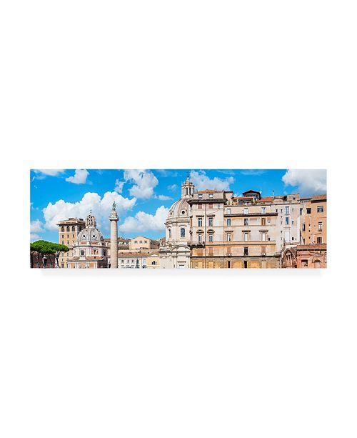 "Trademark Global Philippe Hugonnard Dolce Vita Rome 2 City of Rome VIII Canvas Art - 19.5"" x 26"""