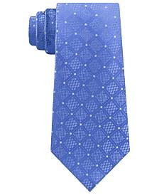 Michael Kors Men's Classic Checkered Grid Silk Tie