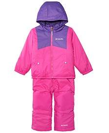 Columbia Toddler Boys & Girls Double Flake Reversible Hooded Jacket & Bib Set