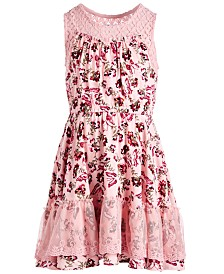 Epic Threads Little Girls Butterfly Challis Dress, Created for Macy's