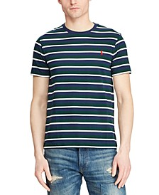 Men's Classic Fit Striped Cotton T-Shirt