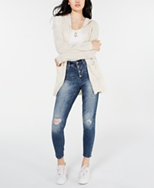 American Rag Juniors' Drop-Shoulder Cardigan, Created for Macy's