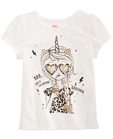 Epic Threads Little Girls Becoming A Unicorn T-Shirt, Created for Macy's
