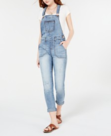 American Rag Juniors' Skinny Overalls, Created for Macy's