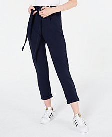 Almost Famous Juniors' Solid Paperbag Pants