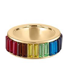 RACHEL Rachel Roy Gold-Tone Rainbow Stone Ring