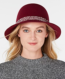 Wool Felt Raw-Cut Cloche
