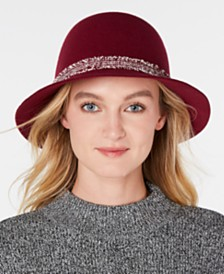 Nine West Wool Felt Raw-Cut Cloche