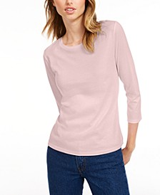 3/4-Sleeve Solid T-Shirt, Created for Macy's
