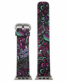 Women's Floral Print Leather Apple Watch Strap 38mm