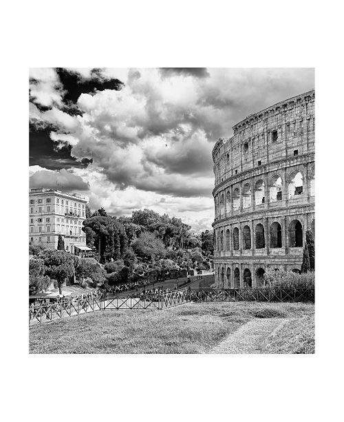 "Trademark Global Philippe Hugonnard Dolce Vita Rome 3 Colosseum View II Canvas Art - 36.5"" x 48"""