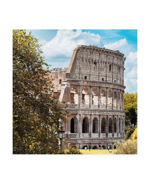 "Trademark Global Philippe Hugonnard Dolce Vita Rome 3 Beautiful Colosseum VIII Canvas Art - 36.5"" x 48"""