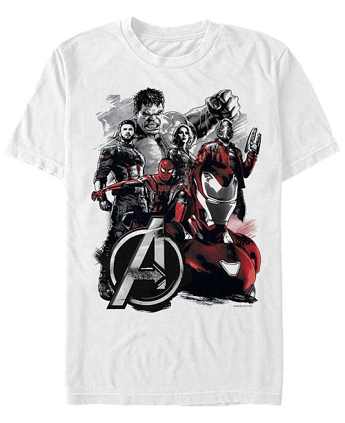 Marvel Men's Avengers Infinity War Painted Group Shot Logo Short Sleeve T-Shirt