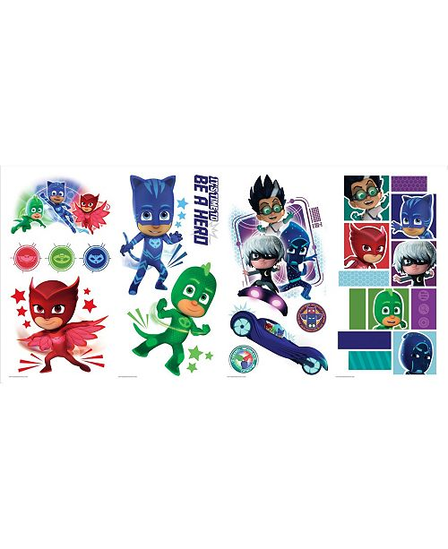 York Wallcoverings PJ Masks Peel and Stick Wall Decals