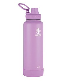 Actives 40 oz Insulated Stainless Steel Water Bottle with Spout Lid