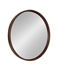 "Hutton Round Wood Wall Mirror - 30"" x 30"""