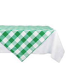 "Shamrock Buffalo Check Table Topper 40"" x 40"""