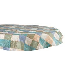 "Tiles 60"" Round Vinyl Table Cloth"