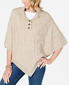 Shawl-Collar Poncho, Created for Macy's