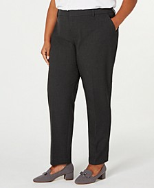 Plus Size Slim-Leg Ankle Pants, Created for Macy's