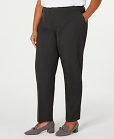 Charter Club Plus Size Slim-Leg Ankle Pants, Created for Macy's