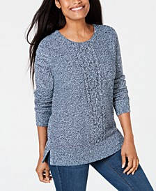 Cable-Knit Panel Sweater, Created for Macy's