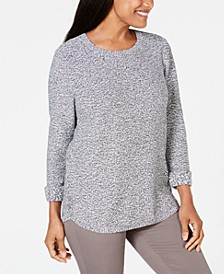 Cotton Marled Sweater, Created for Macy's