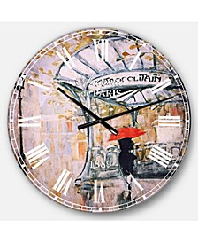 Romantic French Country Oversized Metal Wall Clock