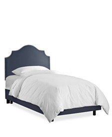 Rendle Kids Twin Nail Button Notched Bed, Quick Ship