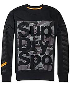 Men's Combat Boxer Camo Logo-Print Sweatshirt