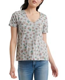 Lucky Brand V-Neck Printed T-Shirt