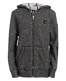 Timberland Big Boys Hayes Full-Zip Logo Hoodie