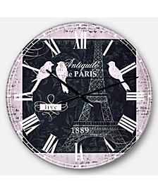 French Country Oversized Metal Wall Clock