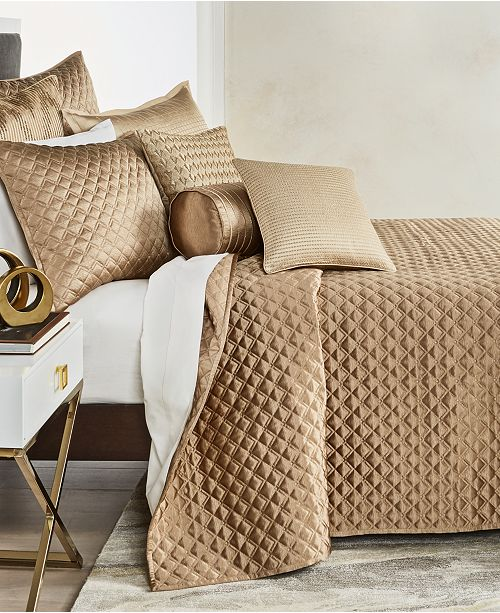 Hotel Collection Deco Embroidery Coverlets & Shams, Created for Macy's