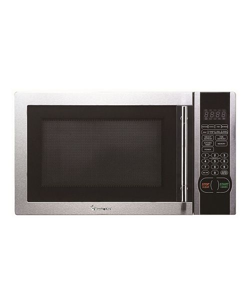 Intel Magic Chef 1.1 Cubic Feet 1000W Countertop Microwave Oven with Stylish Door Handle