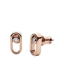 Skagen Women's Elin Stainless Steel Cubic Zirconia Earrings