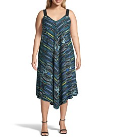 John Paul Richard Printed Point Hem Dress, Plus Size