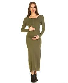 White Mark Maternity Penelope Maxi Dress