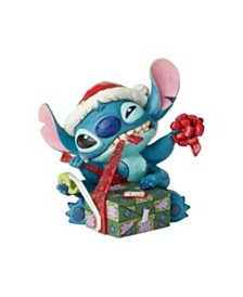 Jim Shore Santa Stitch Wrapping Present