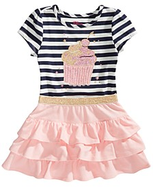 Little Girls Cupcake T-Shirt & Ruffled Skirt, Created for Macy's